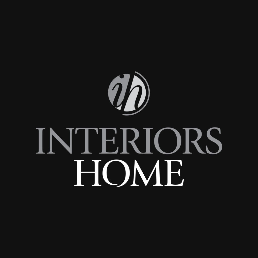 Interiors Home Logo Gray and White