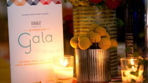 Gingham Gala Program and Table Setting