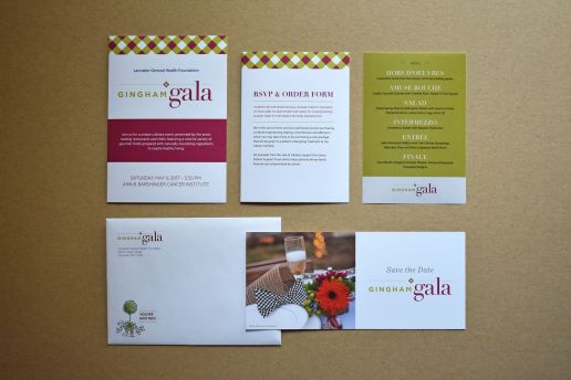Gingham Gala promotional materials design and layout