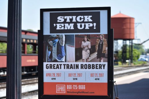 Great Train Robbery Poster for Strasburg Rail Road