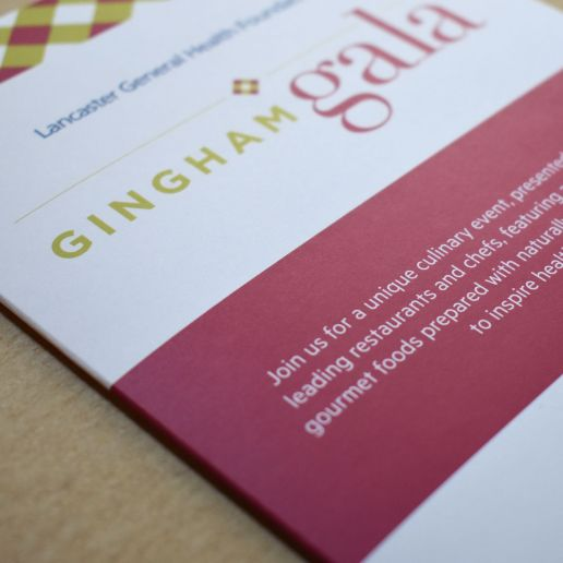 Gingham Gala Brochure Design Closeup Photo