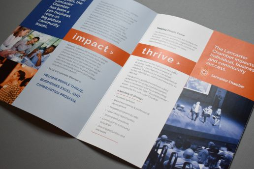 Creative brochure for lancaster chamber or commerce