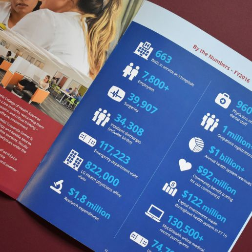 LGH Health By The Numbers Brochure Design