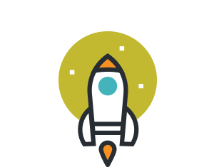 Colorful Rocket Graphic