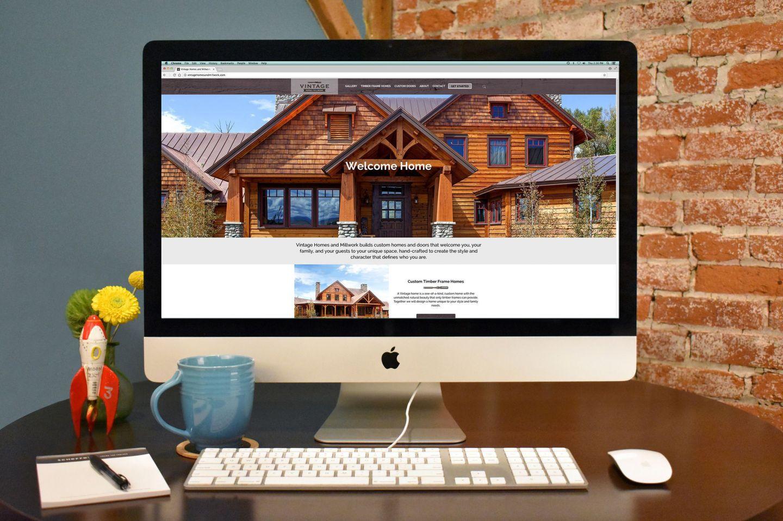 vintage homes millwork website screenshot