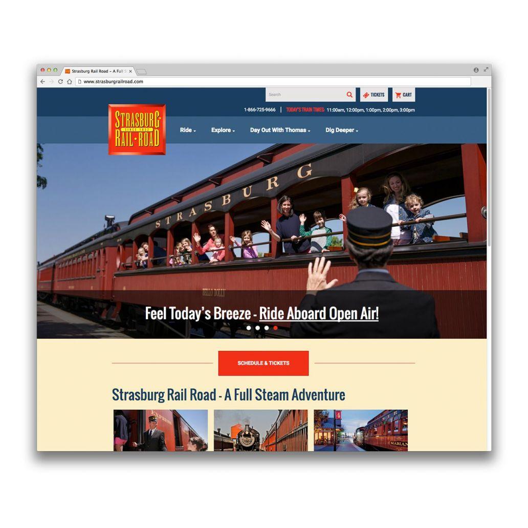 strasburg rail road website screenshot