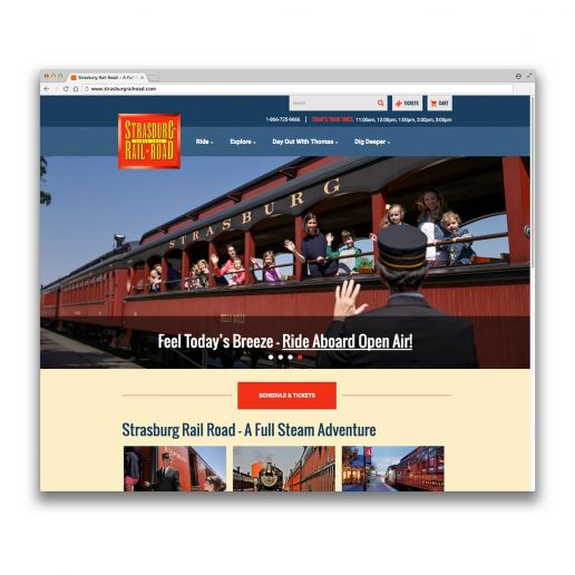 strasburg rail road website screenshot