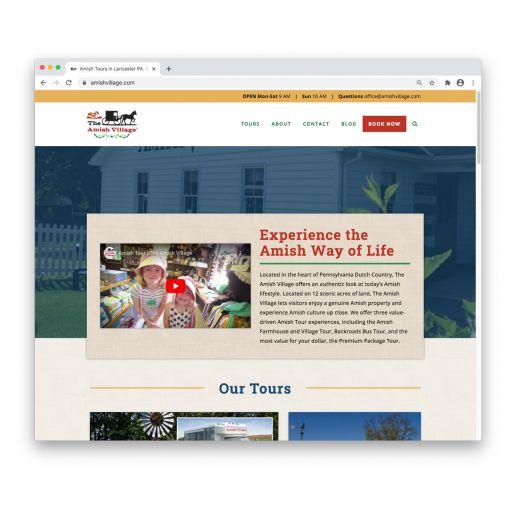 amishvillage.com home page design