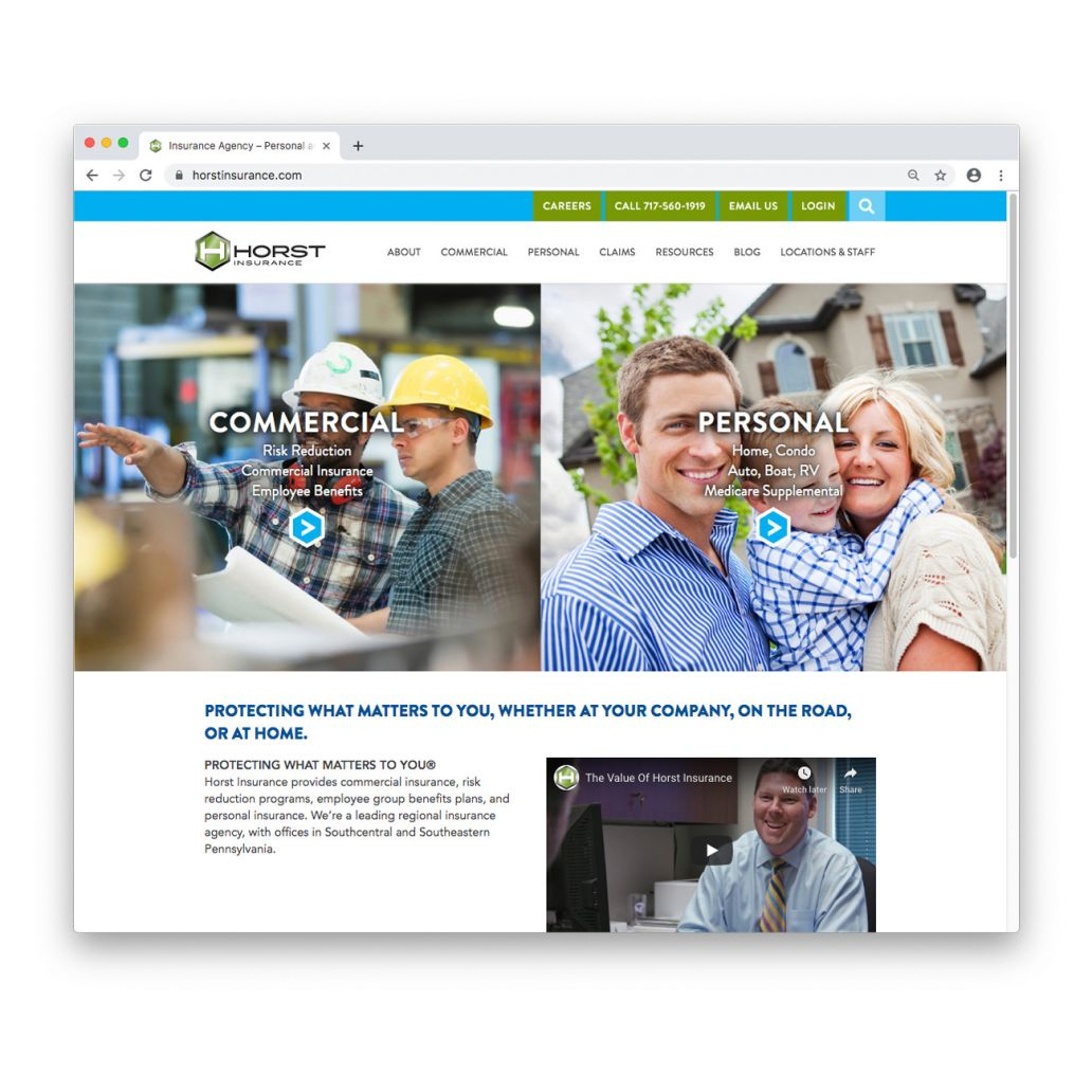 The Horst Insurance home page