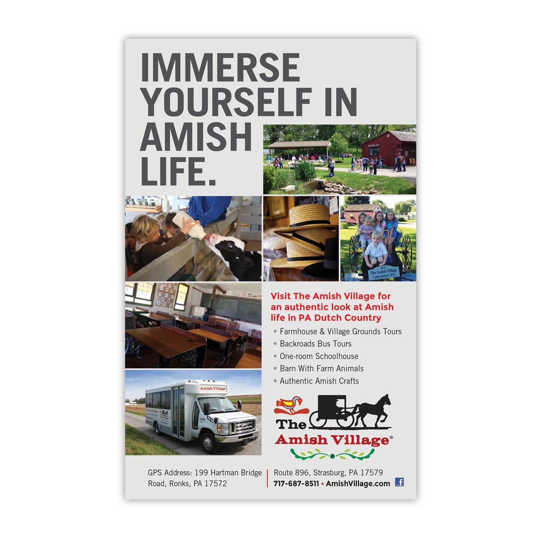 Amish Village Print Ad