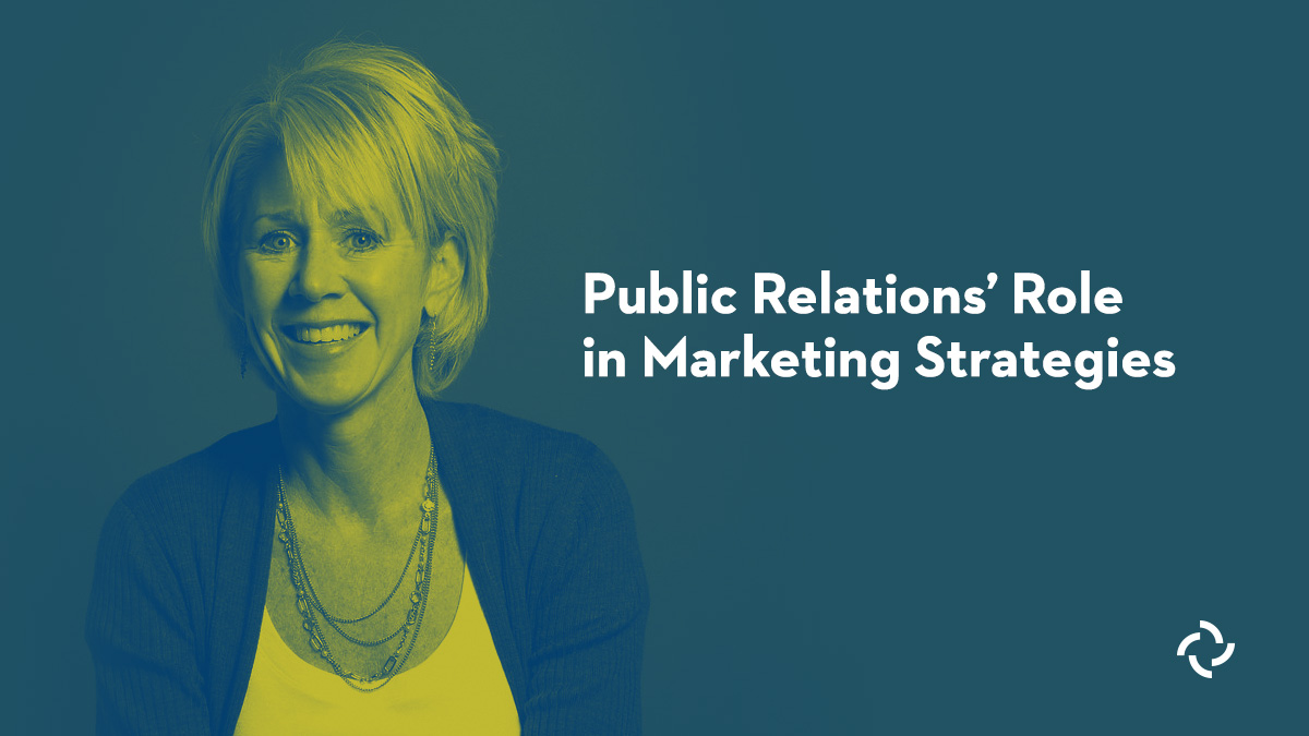 Smiling woman next to blog title about PR