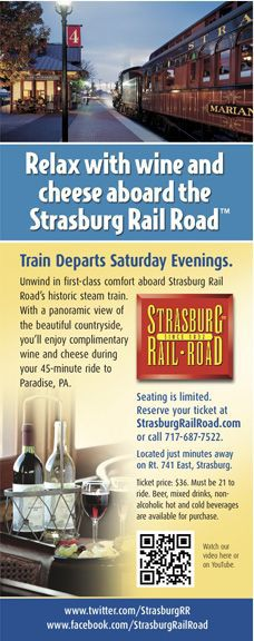 Wine and Cheese Train brochure